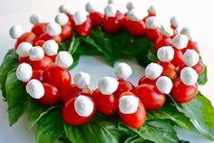 guirlanda caprese, receita fácil, receita natal, christmas recipe, decor, decoração natal, tomate caprese