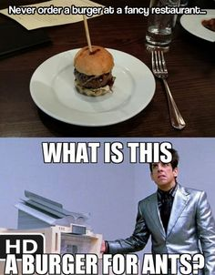 Funny pictures about That's not what a burger is supposed to look like. Oh, and cool pics about That's not what a burger is supposed to look like. Also, That's not what a burger is supposed to look like. Funny Images, Funny Photos, Funny Burger, What A Burger, Real Burger, Celebrity Memes, Ben Stiller, Zoolander, Belly Laughs