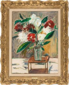 Maurice Utrillo, Vase de fleurs sur une table, 1950 on Paddle8