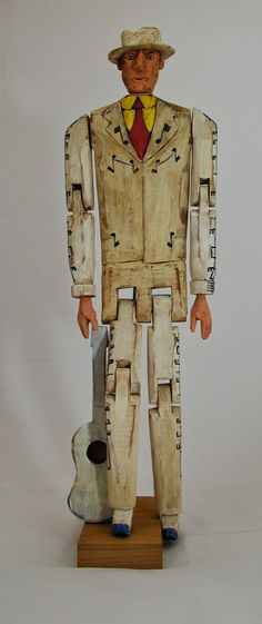 Great and Profound Knowledge: Hank Williams, Sr. folk art carving