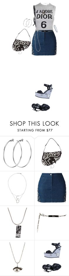 """""""Untitled #473"""" by m0on ❤ liked on Polyvore featuring DKNY, Christian Dior, Sydney Evan, John Galliano and Miadora"""