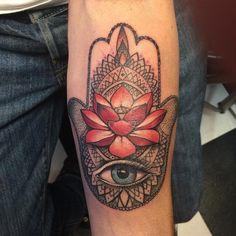 hamsa hand tattoos-1
