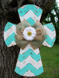 Chevron Cross via Etsy