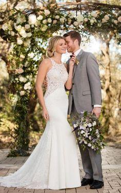 D2342 Unique Lace Wedding Gown by Essense of Australia