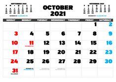 Free Calendar, 2021 Calendar, Calendar Printable, Image File Formats, Free Printables, October, Pdf, Design Templates, Resolutions