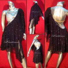 Costume with sheer drape
