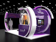 Nexium booth on Behance Exhibition Stall Design, Exhibition Display, Exhibition Stands, Exhibit Design, Web Banner Design, Kiosk Design, Display Design, Exibition Design, Stand Feria