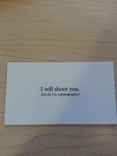 Biz Card of a Photographer