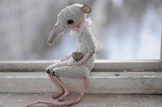 Miniature posable dolls animals Rat figurine 7 BOY Baby