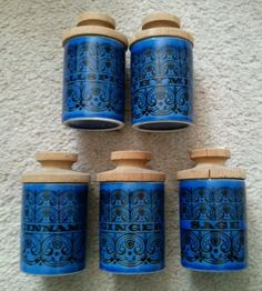 Managed to get 5 hornsea spice jars today in blue, green and orange designs for the grand sum of £1.50