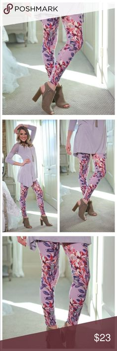 🆕 Lilac Brushed Knit Leggings Super cute and amazingly SOFT!! Adorable leggings you'll want to wear again and again. 8% Spandex. 20% off bundles! Infinity Raine Pants Leggings