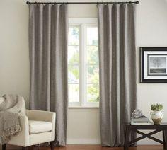 idées de déco rideaux occultants de couleur grise