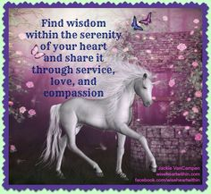 Serenity Unicorn Pictures, Bedtime Stories, Pegasus, Our Life, Compassion, Serenity, Hearts, Wisdom, Horses