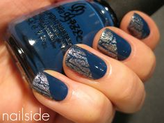 nail color with crackle nail polish.. never thought to do this.. definitely gonna try now