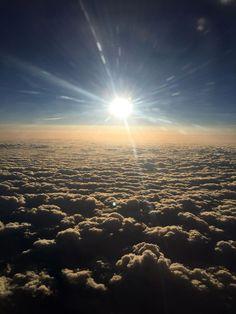 Sunset from 15,000 feet.