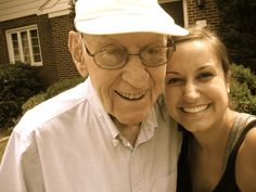 Ever heard of a grown-up grandchild? Laura Hahn with her Pop Pop.