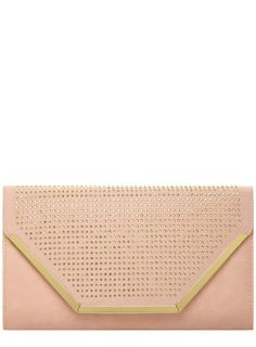 Blush studd structured clutch - Sale $17 & Under - View All Sale - Sale