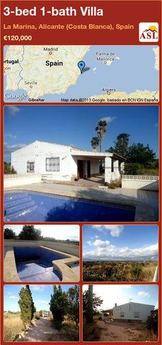 3-bed 1-bath Villa in La Marina, Alicante (Costa Blanca), Spain ►€120,000 #PropertyForSaleInSpain