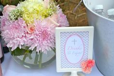 First Communion Table Decoration Ideas | First Communion Party Ideas, Girl Communion Party