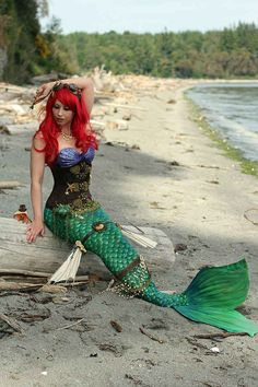 Disney Steampunk Ariel Community The Little Mermaid cosplay Ariel Cosplay, Epic Cosplay, Disney Cosplay, Cosplay Ideas, Superhero Cosplay, Steampunk Pirate, Steampunk Cosplay, Steampunk Fashion, Ariel Costumes