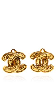 Chanel Quilted CC Earring by Vintage Chanel for Preorder on Moda Operandi