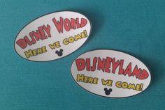 Disney World or Disneyland Here We Come! Bumper Sticker or Car Magnet #disney #disneyland #disneyworld