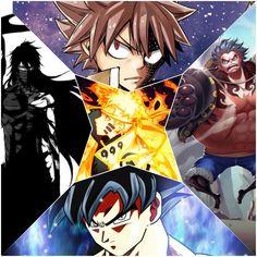 The 5 at their awesomest Otaku Anime, All Anime, Anime Love, Manga Anime, Anime Tattoos, Dragon Ball, Naruto Pictures, Anime Crossover, Bleach Anime
