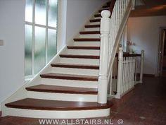 Mooie rustieke open trap in hout trappen pinterest - Deco houten trap ...