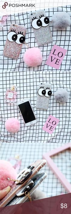 iPhone 7 & plus bling bling furry Pom phone case iPhone 7 & iPhone 7 plus phone case, please choose your size and color Accessories Phone Cases