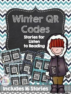 Winter-themed stories perfect for snowy day listening! Your students will love scanning the 16 QR codes included in this package with the technology device of your choice. A great Listen to Reading activity for your Daily 5 instruction. Stories included are:  1.