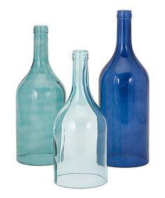 Another great find on #zulily! Blue Cloche Vase - Set of Three #zulilyfinds