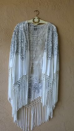Image of Anna Sui Gorgeous Fringe Kimono for Summer concerts