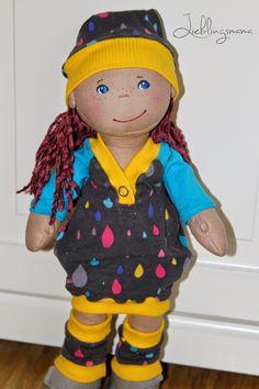 Lieblingsmama: Püppis Liebling #6 - Ballonkleid mit Raglanärmeln, Kleid für 38cm Puppe nähen