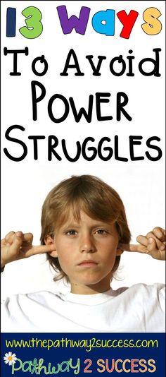 13 Ways to Avoid Power Struggles Teacher Blogs, Teacher Hacks, Teacher Style, Behavior Management, Classroom Management, Management Tips, Special Education Classroom, Autism Classroom, Elementary Education