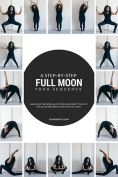 A step-by-step Full Moon yoga sequence - Chandra Namaskar. - James Washington - - A step-by-step Full Moon yoga sequence - Chandra Namaskar. Vinyasa Yoga, Ashtanga Yoga, Kundalini Yoga, Yoga Beginners, Pranayama, Yoga Inspiration, Namaste, Exercise Coach, Yoga Style