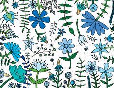 Garden Blues by Happy Cactus Designs on Postable.com