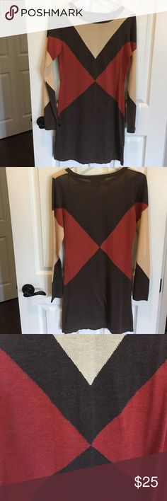 Must have dress!! Stunning Love Stitch body con dress in Brown, cream and orange. I love this dress but haven't worn it so time to pass in to another for plenty of love to share! Size S, UEC. Love Stitch Dresses