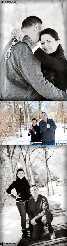 Lorena & Tim's January 2016 #engagement #portrait at Mindowaskin Park! | photo by deanmichaelstudio.com | #njengagement #newjerseyengagement #love #winter #photography #DeanMichaelStudio