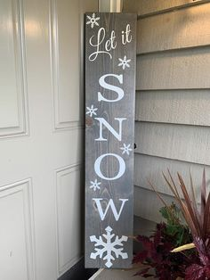 Reversible Porch Sign / Happy Fall Y & # all / Sweet Summer Time / Hello Spring / Let is Snow / Porch Sign / Rustic Decor / Reversible Sign – christmas decorations Christmas Signs Wood, Holiday Signs, Christmas Porch, Outdoor Christmas, Christmas Decorations, Winter Porch Decorations, Etsy Christmas, Fall Signs, Primitive Christmas