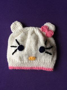 Hello Kitty, knitting girls hat