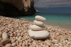 Zen beach rocks print, Yoga decor Balance stacked rocks, white rocks beach landscape, coastal photography, minimalist boho style meditation