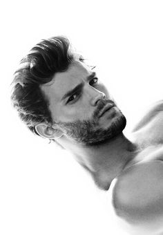 sexy man, black and white