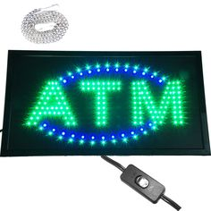 "Large 24x13"" Bright Animated ATM Bar Mart Shop LED Open Store Sign Display neon #AhhaProducts"
