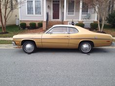 1974 Plymouth Gold Duster with 225 Slant 6 engine. I bought this in October 2013 with 88,500 original and documented miles making me now a classic car collector!