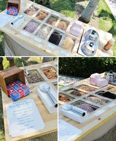 One of the coolest Sundae bars ever... totally sets the scene for a summer shower!