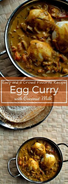 An easy and a crowd pleaser recipe! Kerala Style Egg Curry with Coconut Milk Veg Recipes, Curry Recipes, Indian Food Recipes, Asian Recipes, Vegetarian Recipes, Cooking Recipes, Kerala Recipes, Cooking Games, Healthy Recipes