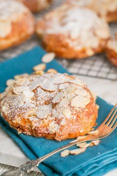 """If you visit a classic French Bakery, you'll likely see these behind a shiny glass: """"Croissants aux Amandes"""" (aka Almond Croissants). Delicious and so Easy!"""