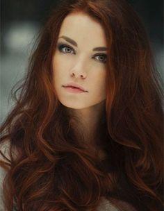 Hair Color, Copper Auburn Hair Color, Dark Auburn Red Hair Color, Dark ...