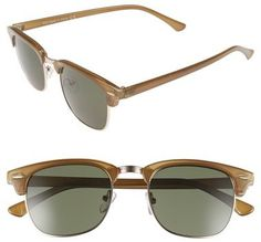 Topman 48mm Mixed Media Retro Sunglasses