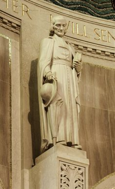 Saint John Vianney / Saint Jean-Marie Baptiste Vianney, dit le Curé d'Ars ou le saint Curé d'Ars / Juan María Vianney // Statue in the apse of the Basilica of the National Shrine of the Immaculate Conception in Washington DC // Photo by Lawrence OP // #priest
